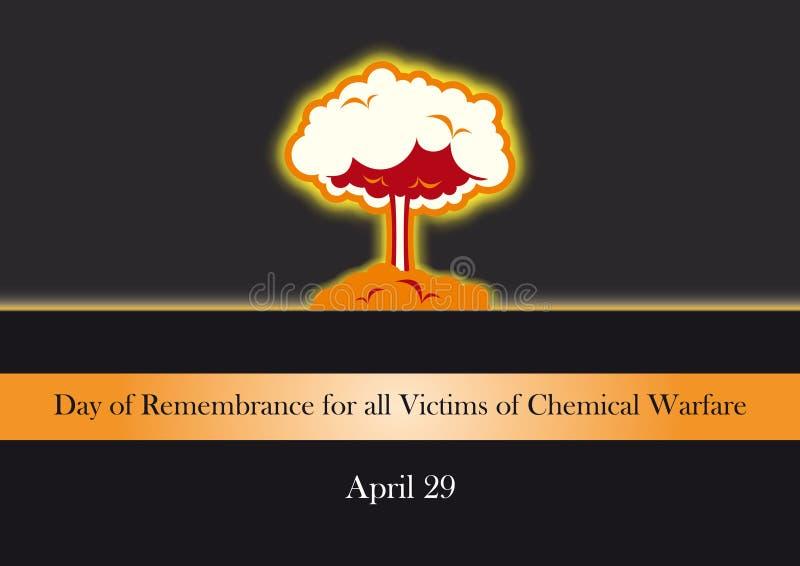 Dzień wspominanie dla wszystkie ofiar Chemiczny działania wojenne ilustracji