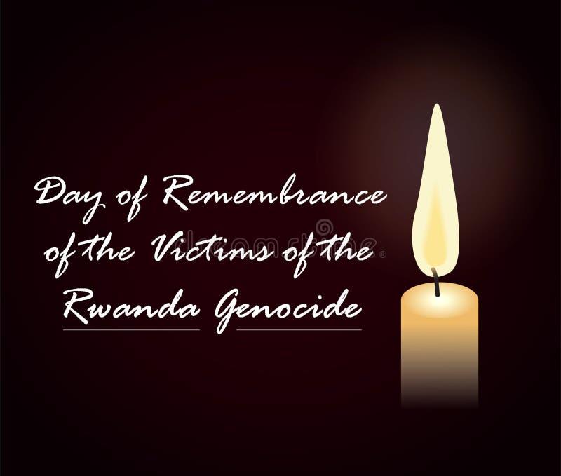 Dzień wspominanie ofiary Rwanda ludobójstwo ilustracja wektor