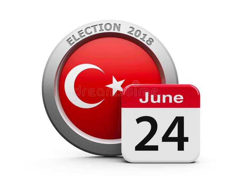 Dzień Wyborów Turcja ilustracja wektor