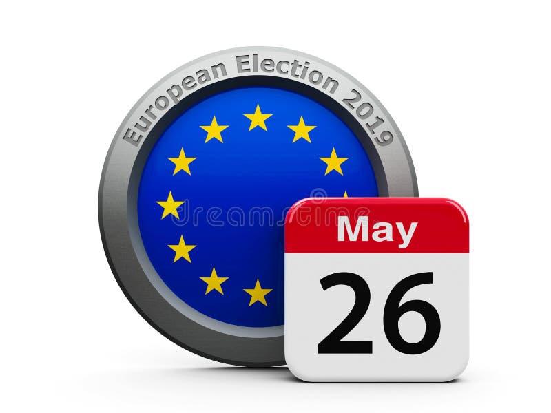 Dzień Wyborów UE ilustracji