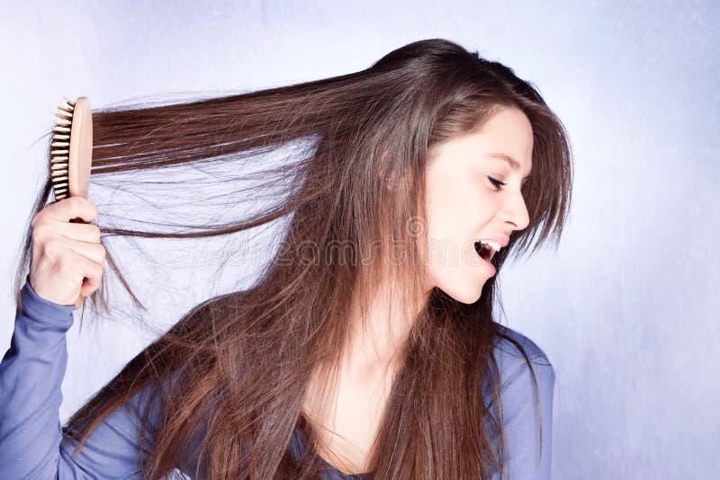 dzień zły włosy zdjęcie royalty free