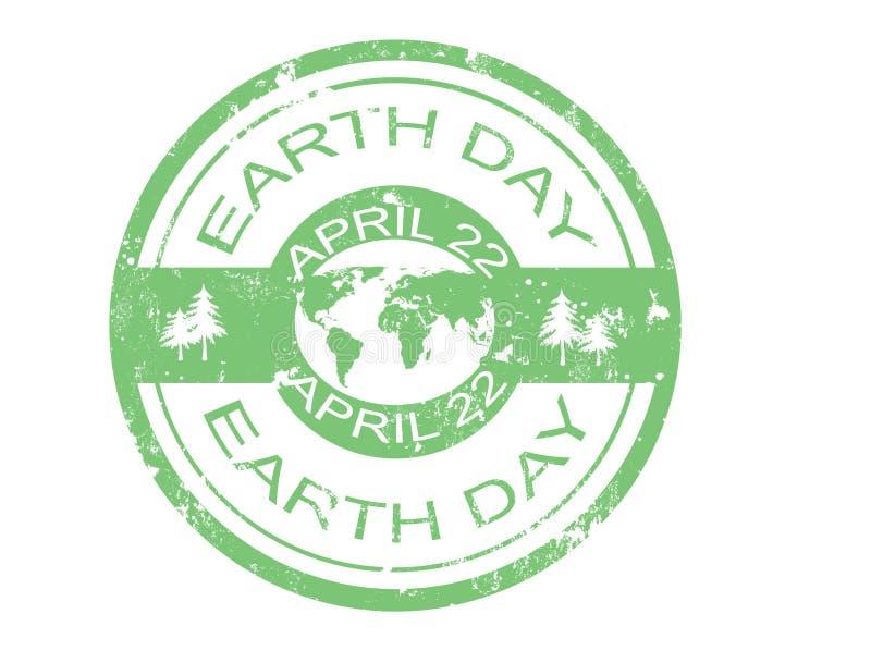 dzień ziemi znaczek ilustracji