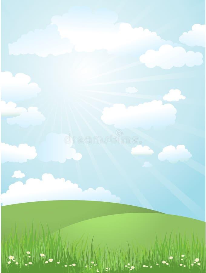 Download Dzień pogodny krajobrazowy ilustracja wektor. Obraz złożonej z fielder - 12898474