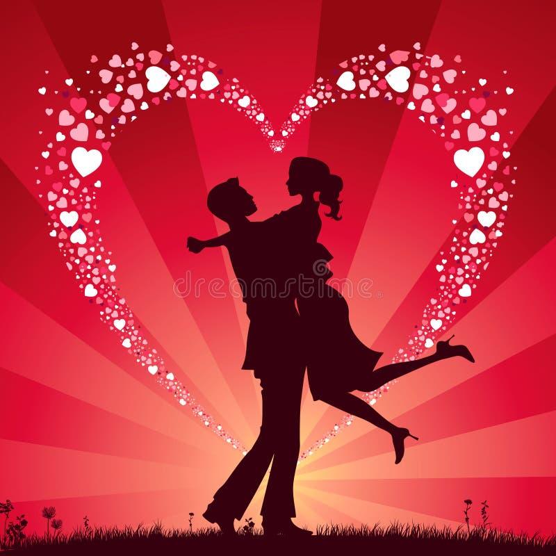 Download Dzień valentine s ilustracja wektor. Obraz złożonej z kochanek - 7929051