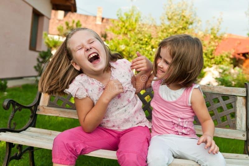 dzieciństwa dzieci szczęśliwy larking obraz royalty free