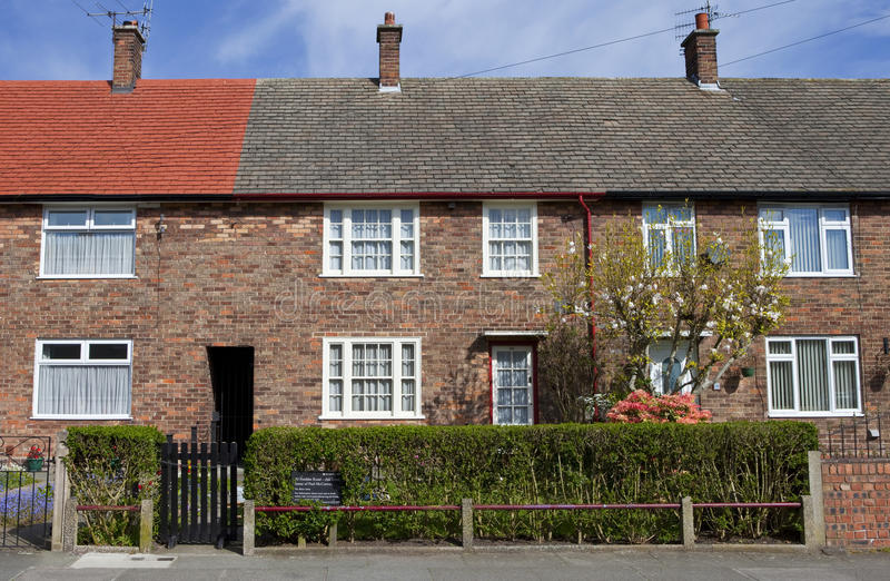Dzieciństwo dom Sir Paul McCartney w Liverpool fotografia royalty free