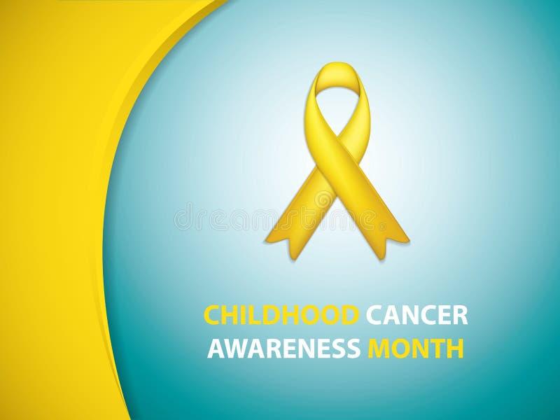 Dzieciństwo nowotworu świadomości miesiąc ilustracji