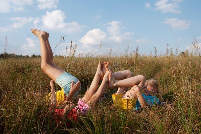 dzieci łąkowi fotografia royalty free