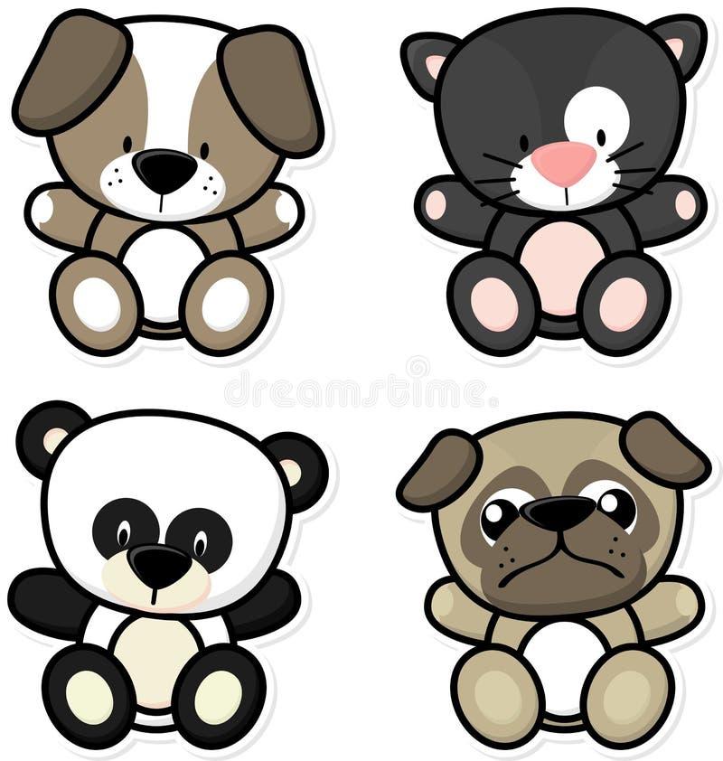 Dzieci śliczni zwierzęta ilustracja wektor
