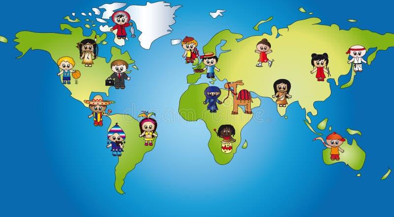 dzieci światowi royalty ilustracja