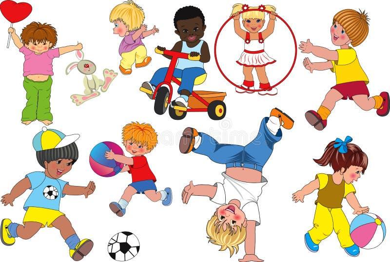 Download Dzieci ilustracja wektor. Obraz złożonej z uśmiech, chłopiec - 18370000