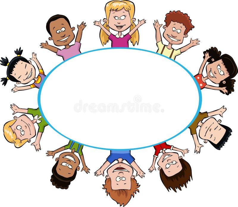 Download Dzieci ilustracja wektor. Obraz złożonej z przyjaciel - 28024273