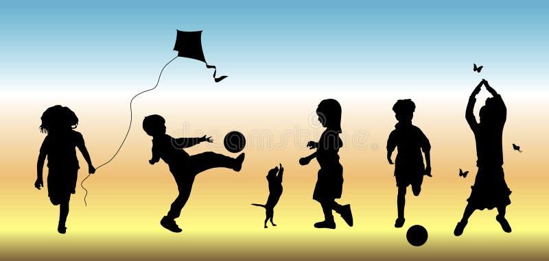 dzieci 3 sztuki. royalty ilustracja