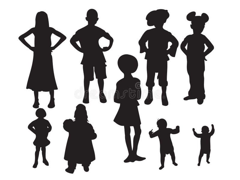 dzieci. royalty ilustracja