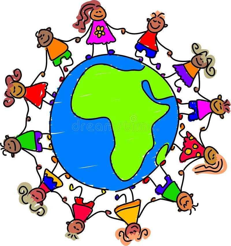 dzieci afryki royalty ilustracja