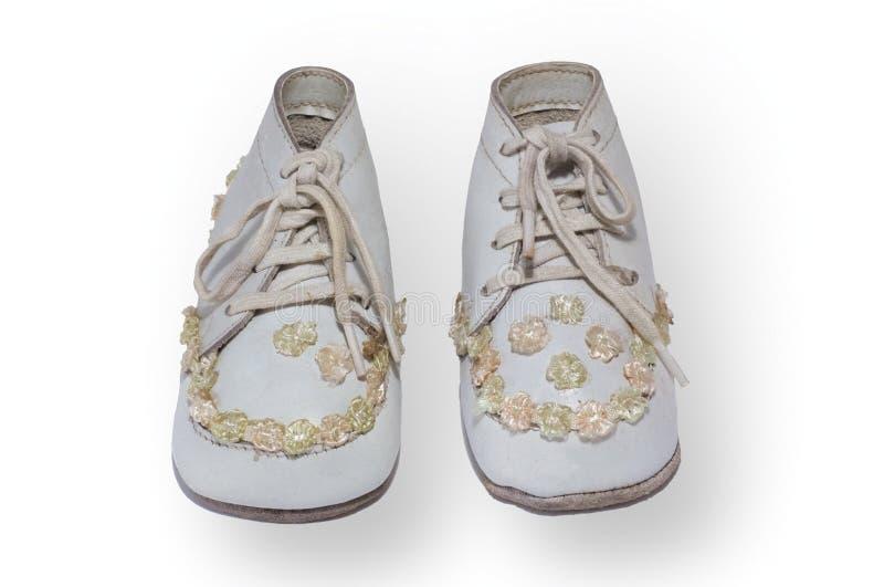 dzieci antykwarscy buty. zdjęcie royalty free