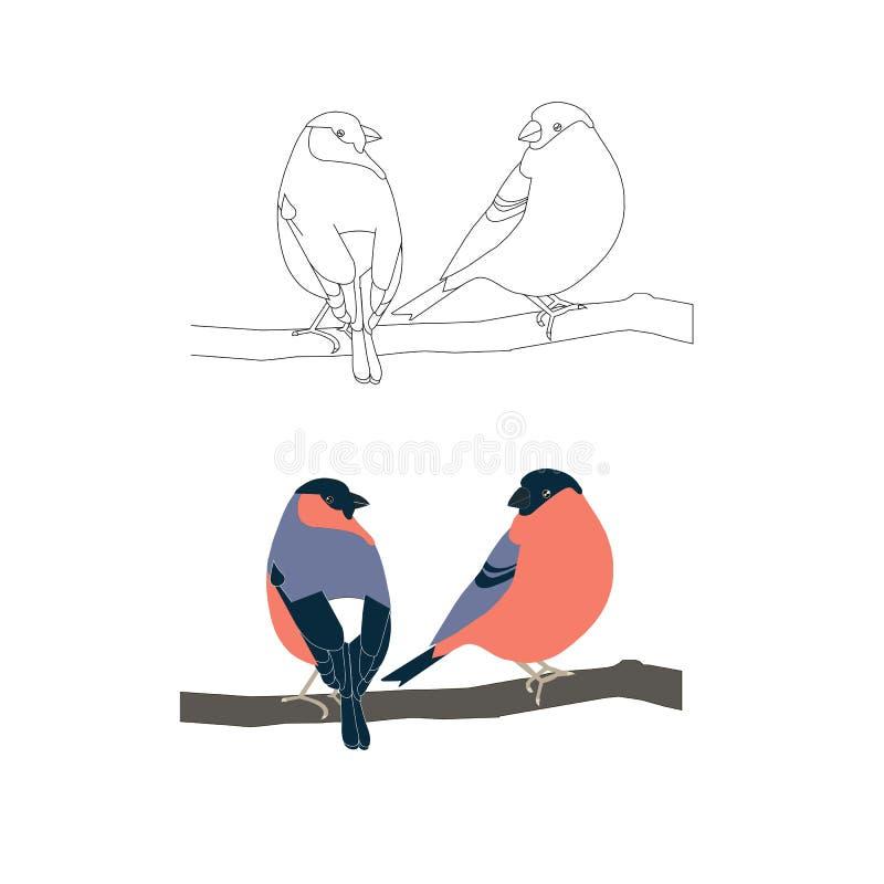 Dzieci barwi strony akcyjną wektorową ilustrację i barwi gila, monochrom ilustracja wektor