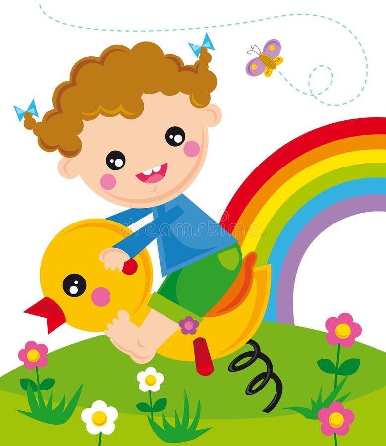 dzieci bawią się ilustracja wektor