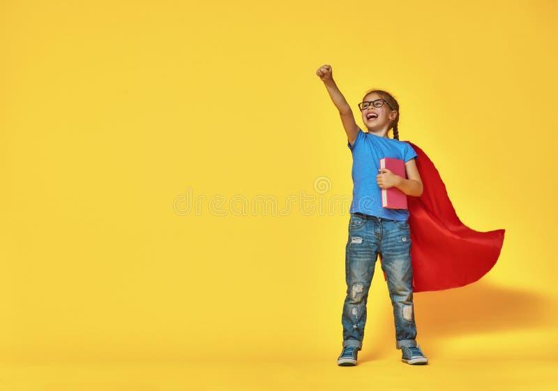 Dzieci bawią się bohater zdjęcie stock