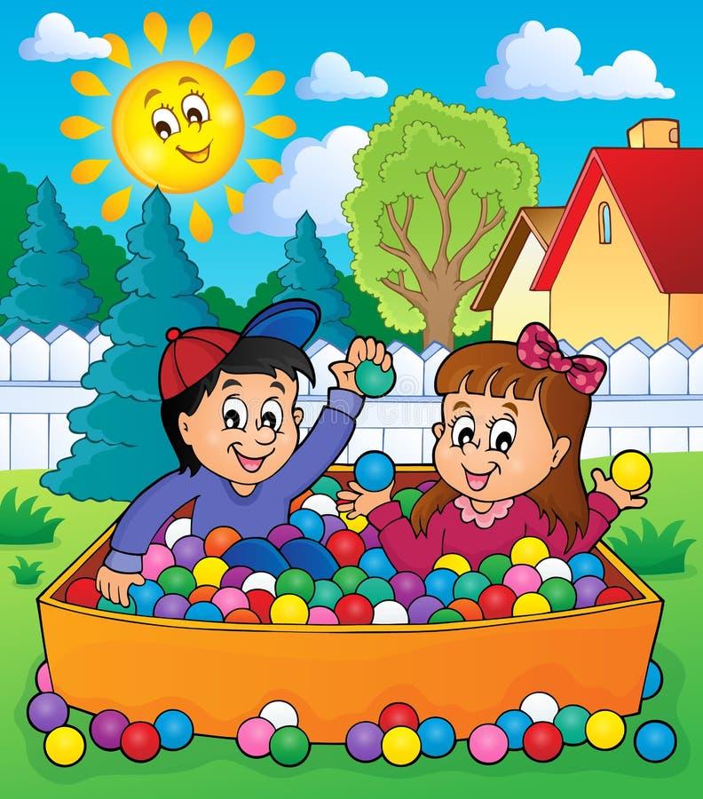 Download Dzieci Bawić Się Tematu Wizerunek 4 Ilustracja Wektor - Ilustracja złożonej z ilustracje, szczęście: 57654380