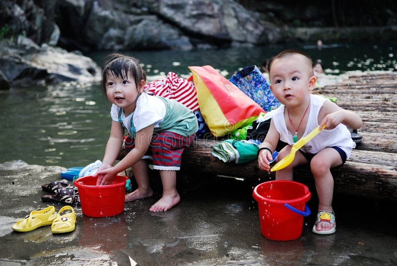 dzieci chińscy obraz stock
