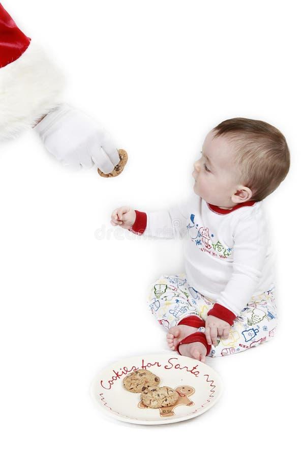 dzieci ciastka Santa zdjęcie stock
