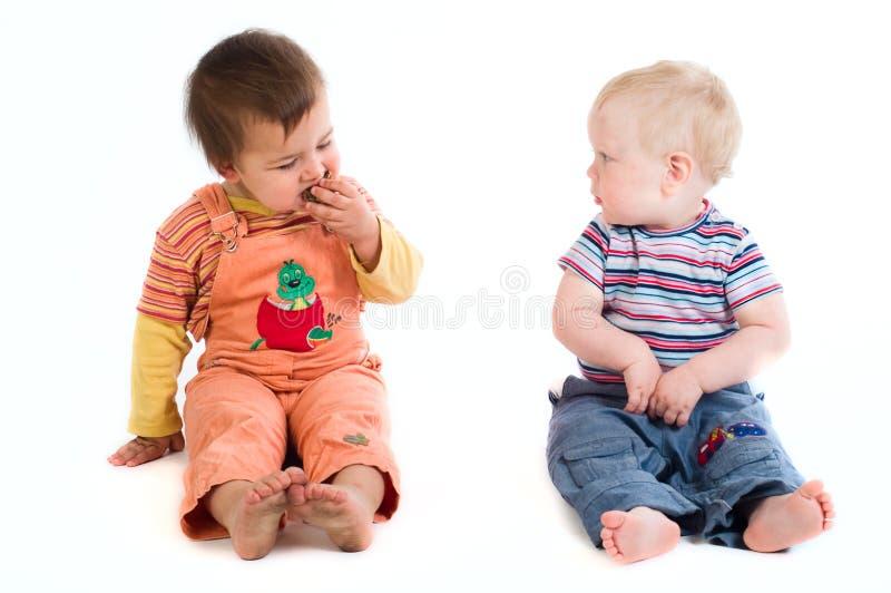 dzieci dwa fotografia royalty free
