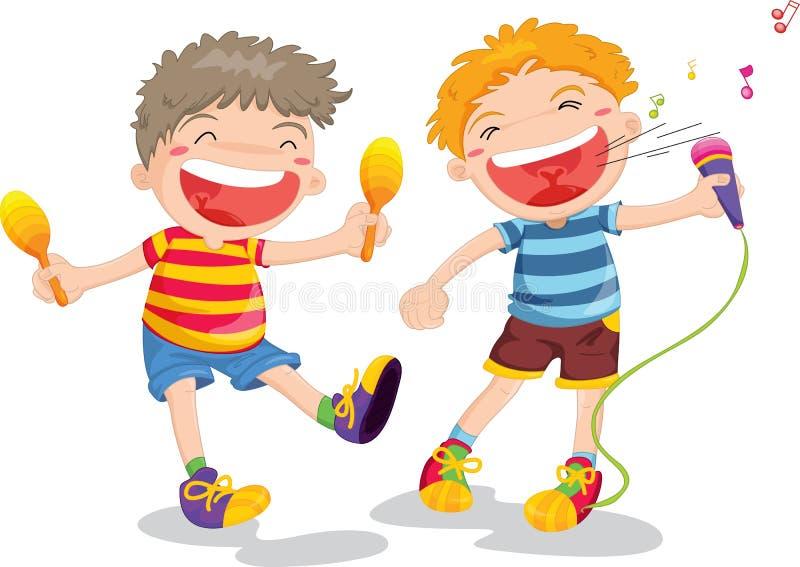 dzieci dwa ilustracji