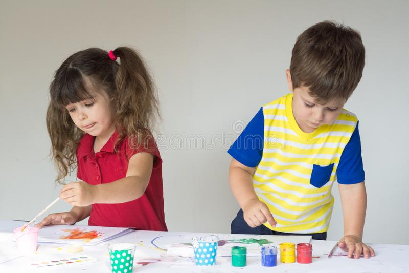 Dzieci, dzieciniec, playschool lub lub fotografia stock