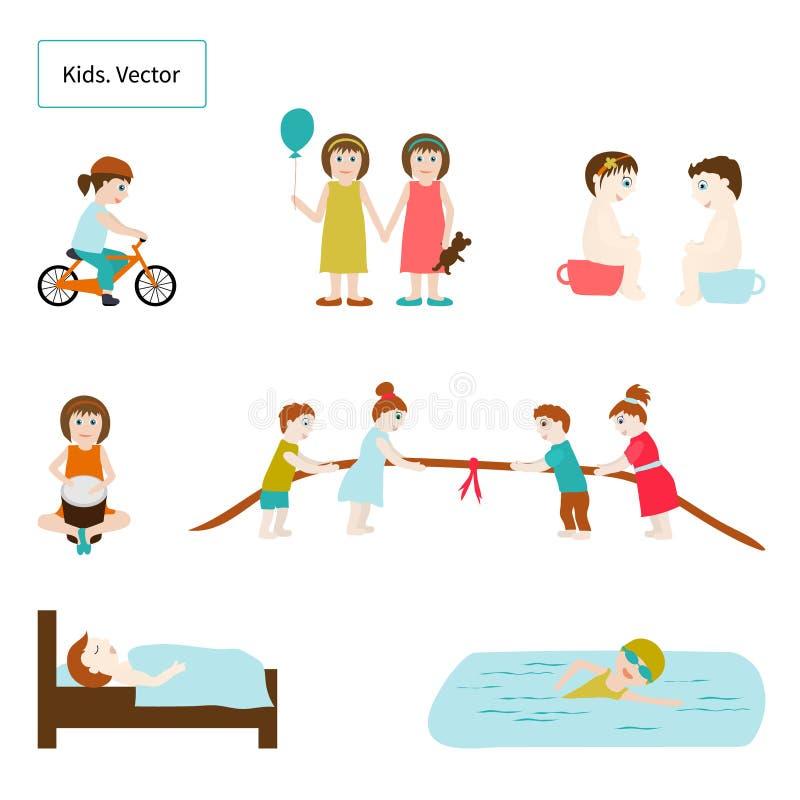 dzieci elementy wektor royalty ilustracja