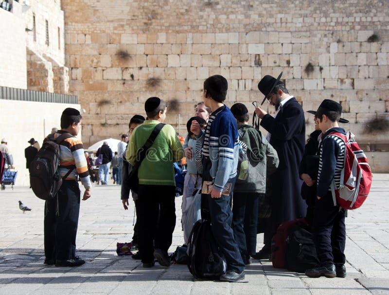 dzieci grupują żydowskiego obraz stock