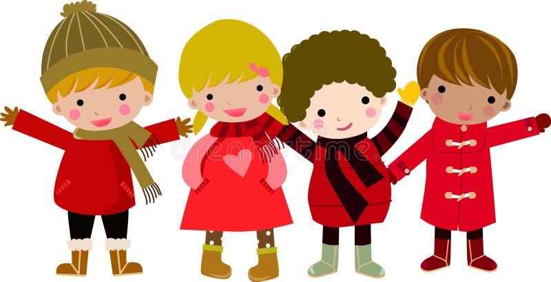 dzieci grupują szczęśliwego royalty ilustracja