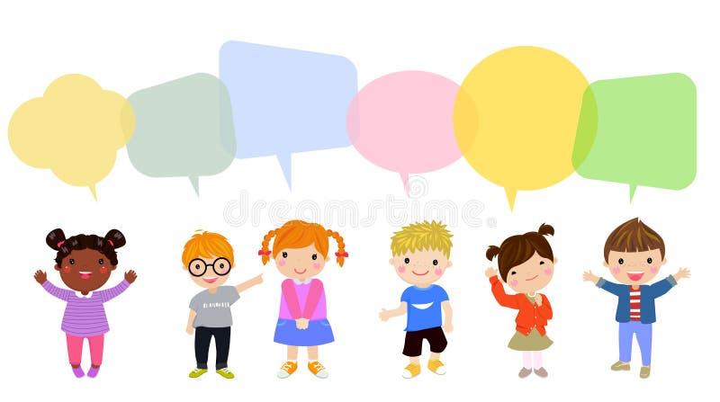 Dzieci i mowa balon ilustracji