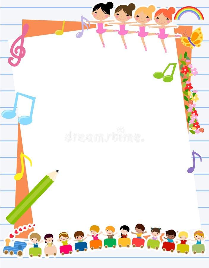 Dzieci i rama ilustracji