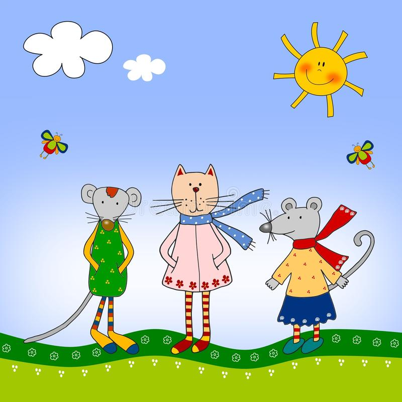 Dzieci Ilustracyjni Fotografia Royalty Free