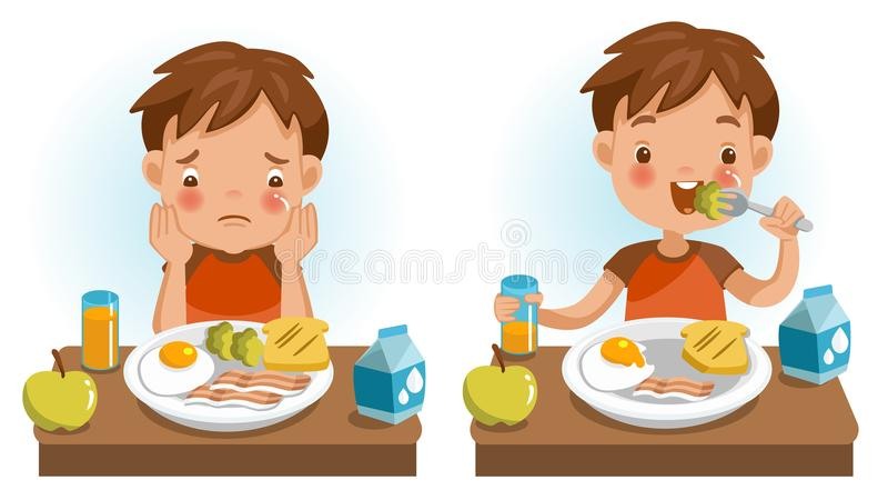 Dzieci jeść ilustracji
