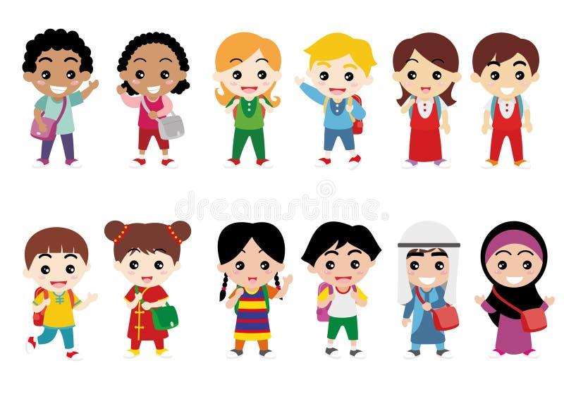 Dzieci, jedność i różnorodność, zdjęcia stock