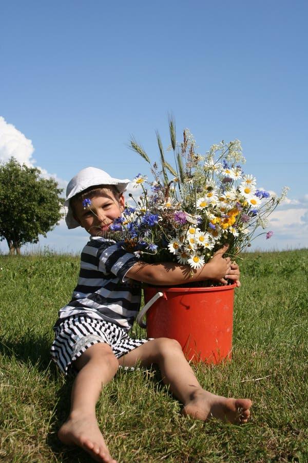 dzieci kwiatów obrazy royalty free