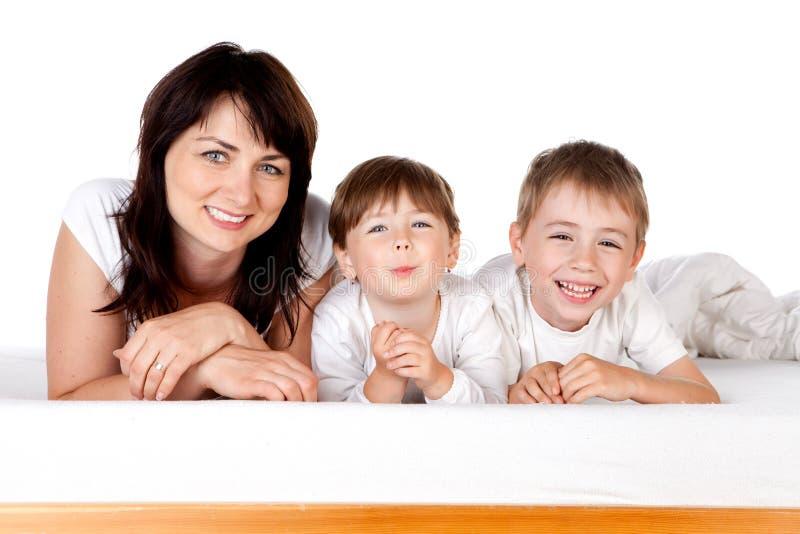 dzieci matkują dwa fotografia stock