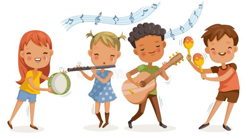 Dzieci muzyczni royalty ilustracja