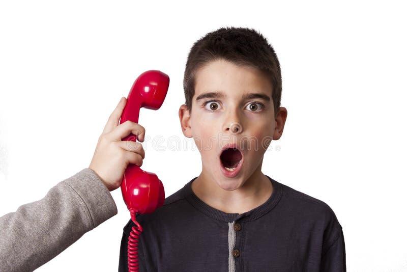 Dzieci na telefonie fotografia royalty free