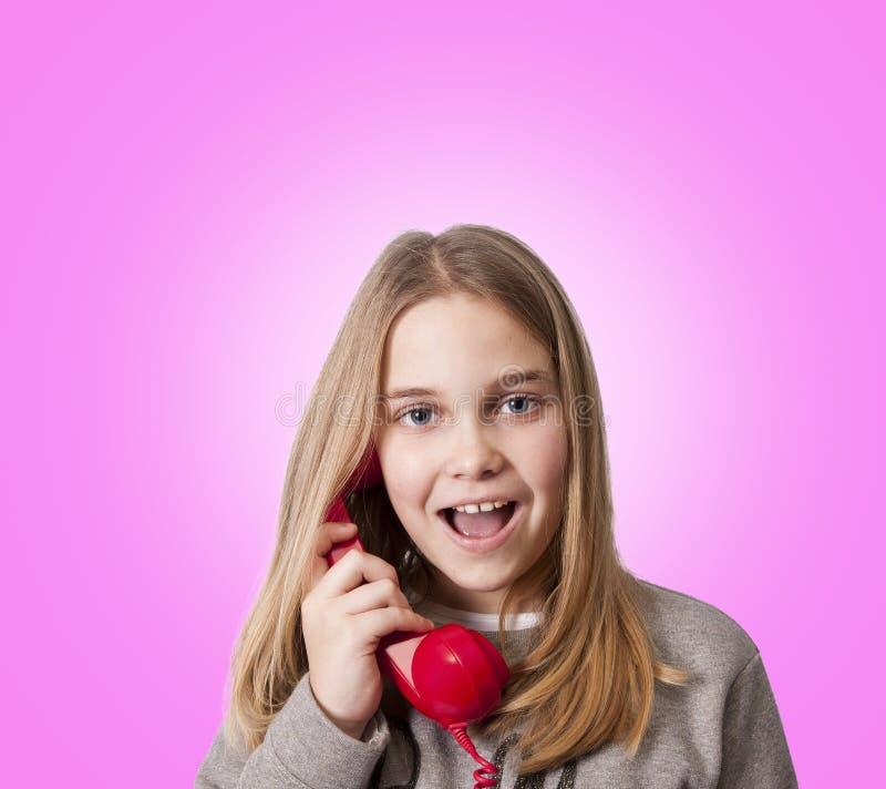 Dzieci na telefonie fotografia stock
