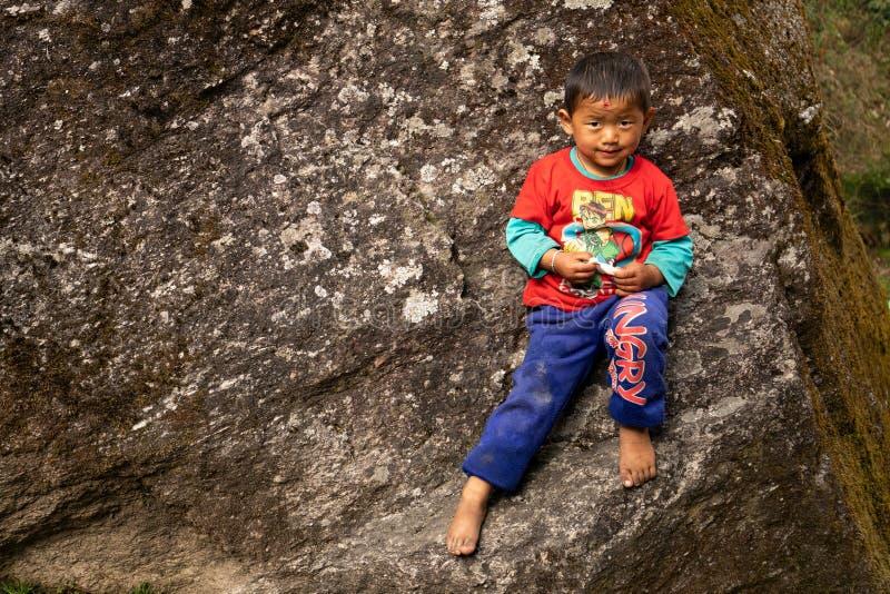 Dzieci Nepal zdjęcie stock