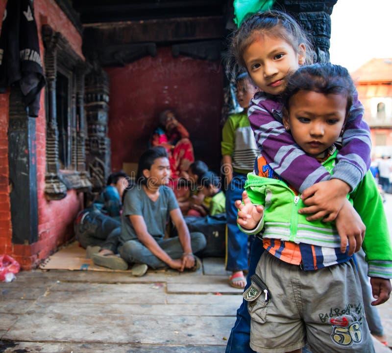 dzieci nepalese obraz royalty free