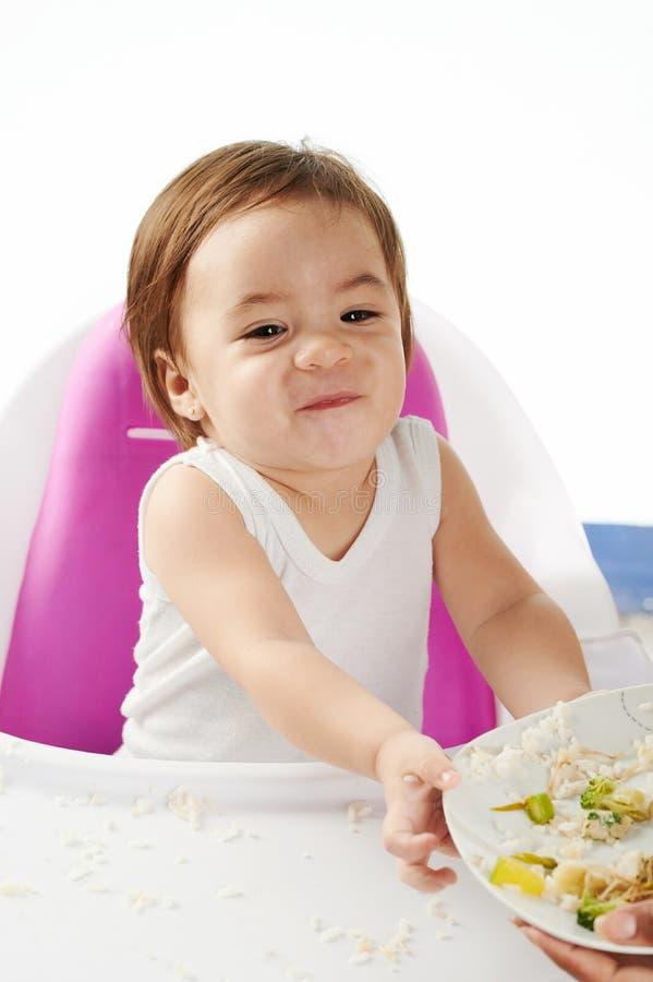 Dzieci odmówić jedzą jedzenie obraz royalty free