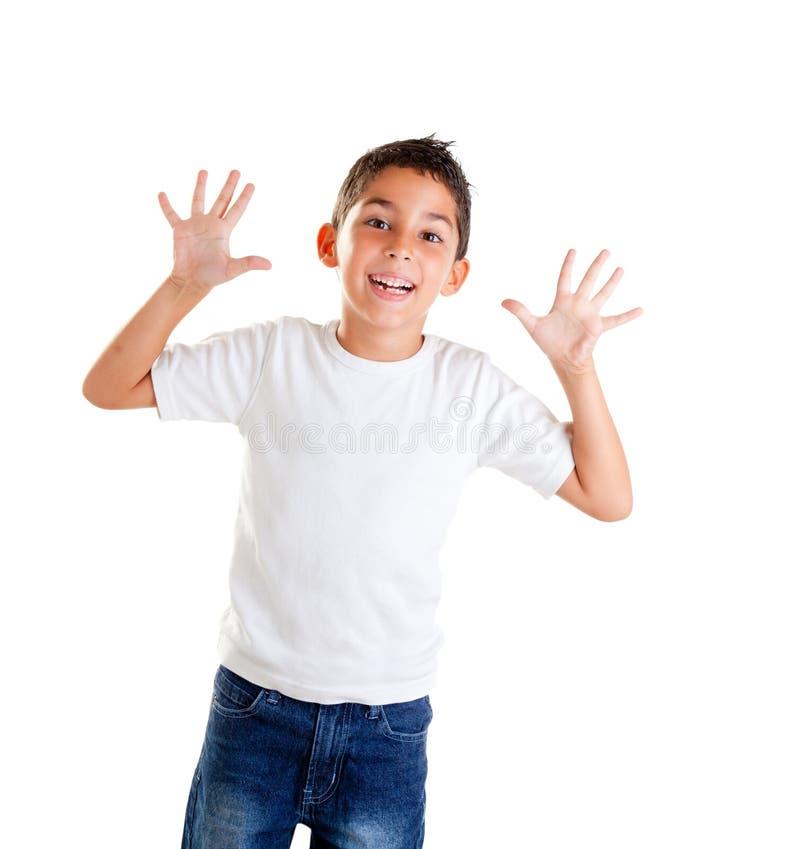 dzieci palców śmieszny gest otwarty obrazy royalty free