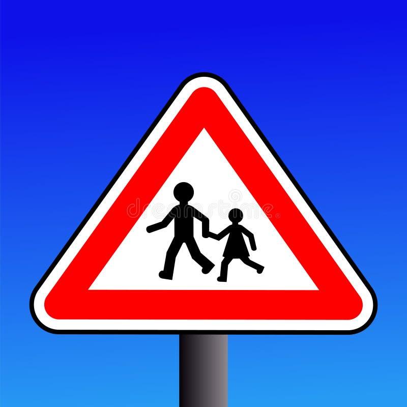 dzieci podpisują ostrzeżenie ilustracji
