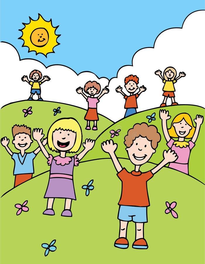 dzieci powitania ilustracji