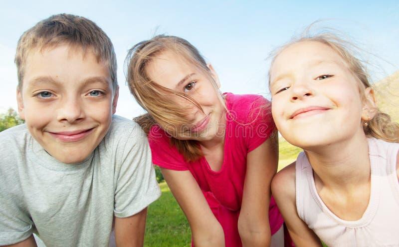 Dzieci przy latem fotografia stock