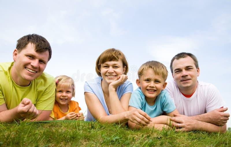 dzieci rodzin wielki portret ich obraz royalty free